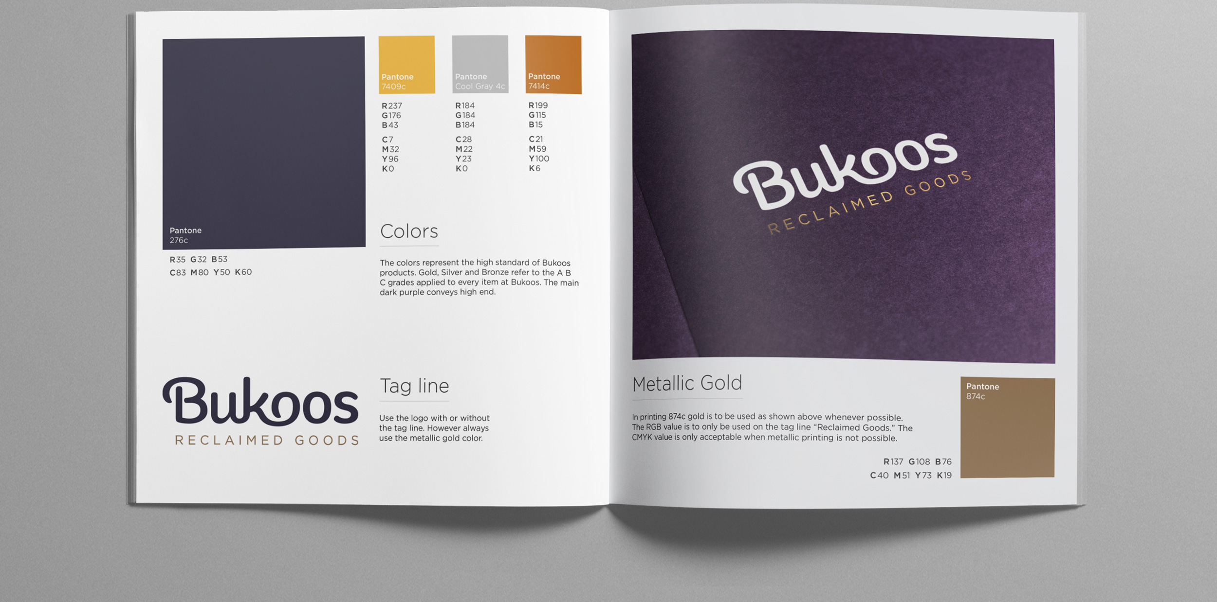 Style guide design for Bukoos