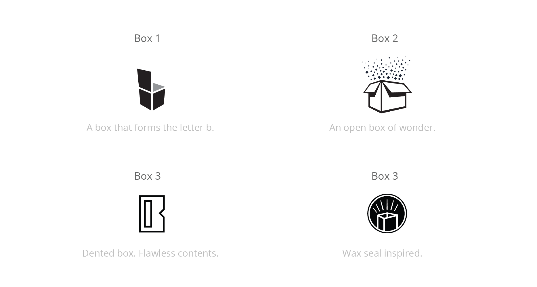 Bukoos, box logo concepts.