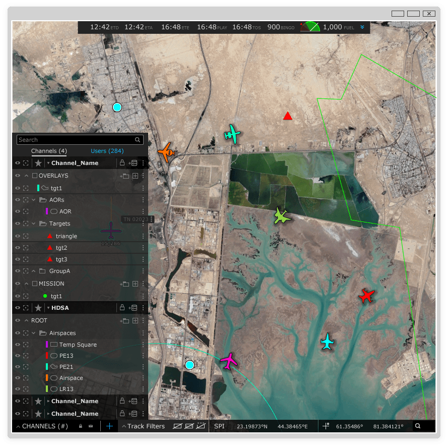 Drone Map Interface - app design